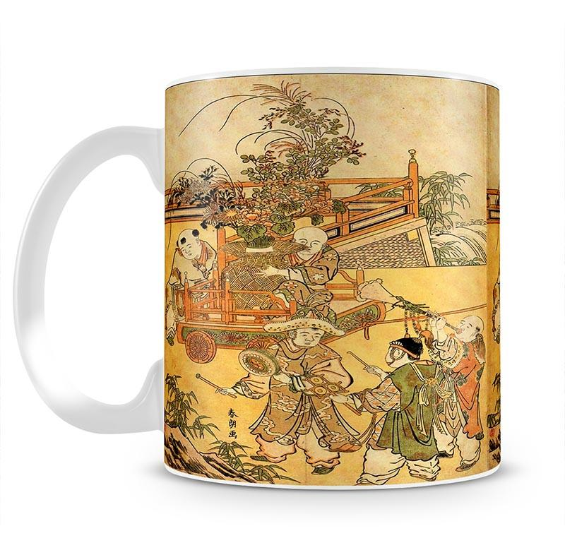 Chinese children by Hokusai Mug - Canvas Art Rocks - 2