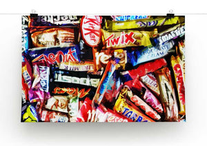 Chocolate Bar Print - Canvas Art Rocks - 2