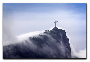 Christ the Redeemer in clouds Canvas Print or Poster  - Canvas Art Rocks - 1