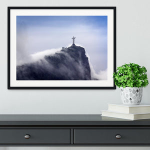 Christ the Redeemer in clouds Framed Print - Canvas Art Rocks - 1