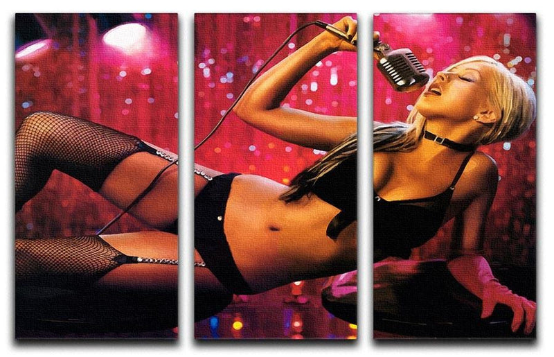 Christina Aguilera Burlesque 3 Split Panel Canvas Print - Canvas Art Rocks - 4