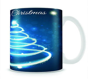 Christmas Blue Tree Mug - Canvas Art Rocks - 1