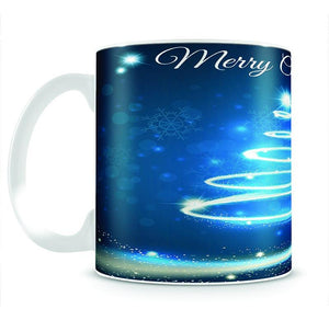 Christmas Blue Tree Mug - Canvas Art Rocks - 2
