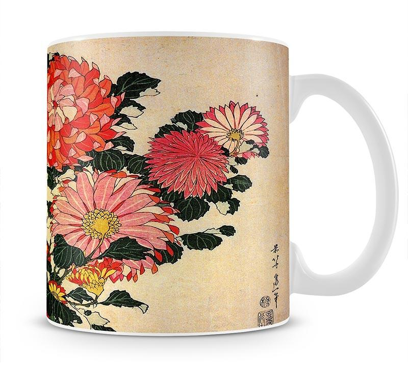 Chrysanthemum and bee by Hokusai Mug - Canvas Art Rocks - 1