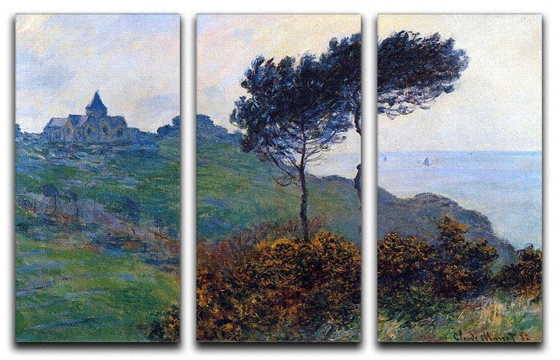 Church at Varengeville by Monet Split Panel Canvas Print - Canvas Art Rocks - 4