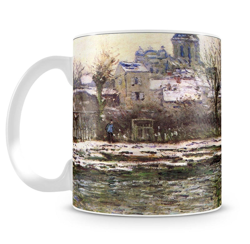 Church of Vetheuil in the snow by Monet Mug - Canvas Art Rocks - 4