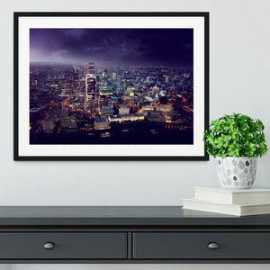 City of London At Sunset Framed Print - Canvas Art Rocks - 1