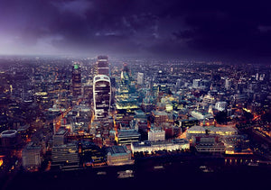 City of London At Sunset Wall Mural Wallpaper - Canvas Art Rocks - 1