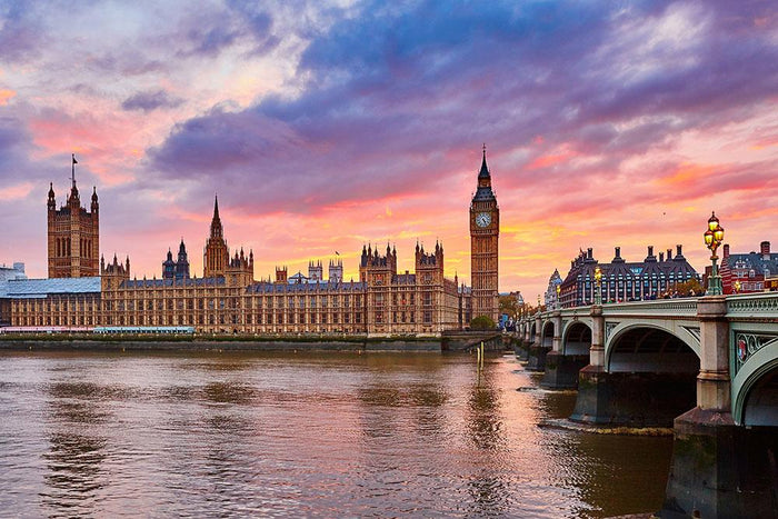 Cityscape of Big Ben and Westminster Bridge Wall Mural Wallpaper
