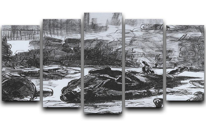Civil war by Manet 5 Split Panel Canvas