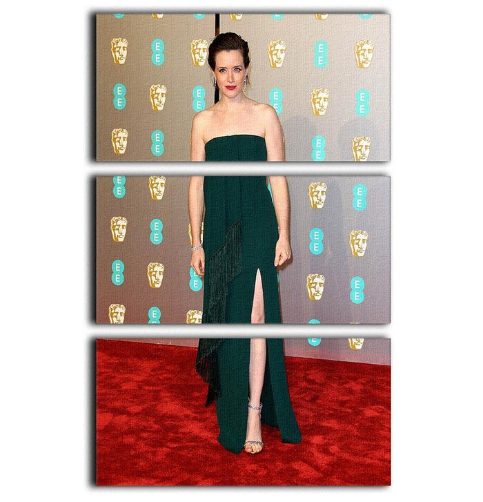 Claire Foy at the BAFTAs 3 Split Panel Canvas Print
