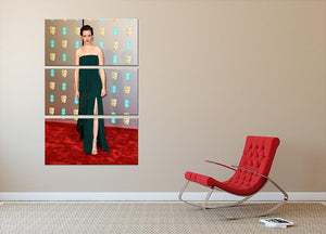 Claire Foy at the BAFTAs 3 Split Panel Canvas Print - Canvas Art Rocks - 2