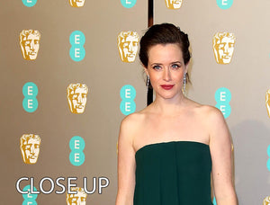 Claire Foy at the BAFTAs 3 Split Panel Canvas Print - Canvas Art Rocks - 3