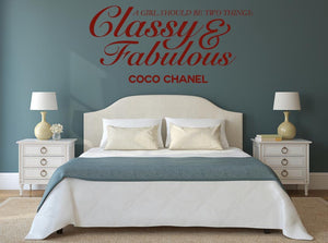 Classy & Fabulous Wall Sticker - Canvas Art Rocks - 1