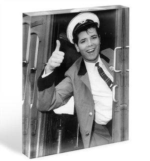 Cliff Richard on a bus Acrylic Block - Canvas Art Rocks - 1
