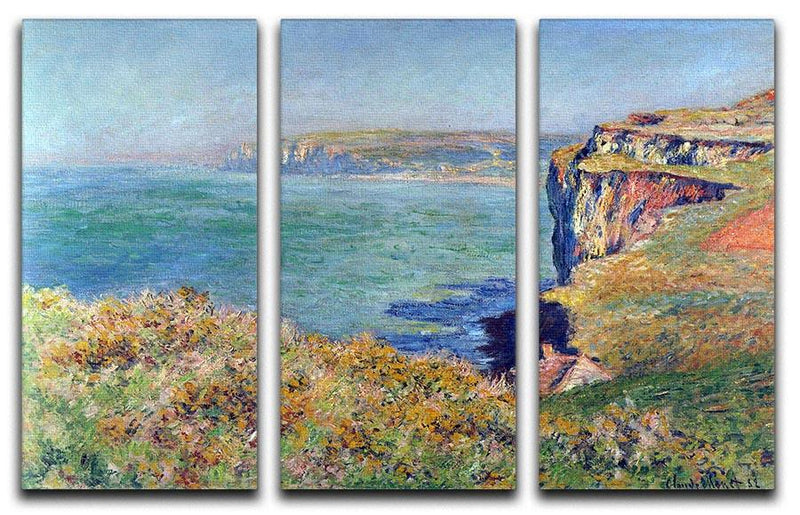 Cliffs at Varengeville by Monet Split Panel Canvas Print - Canvas Art Rocks - 4