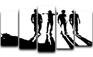 Clockwork Orange 5 Split Panel Canvas  - Canvas Art Rocks - 1