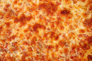 Close up of Cheese Bread Pizza Wall Mural Wallpaper - Canvas Art Rocks - 1