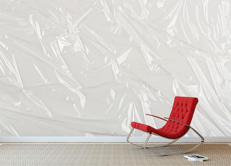 Closeup of wrinkled plastic Wall Mural Wallpaper - Canvas Art Rocks - 1