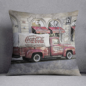 Coca Cola Van Painting Cushion