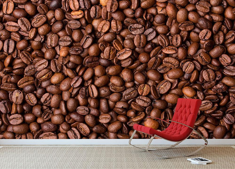 Coffee grains Wall Mural Wallpaper - Canvas Art Rocks - 1