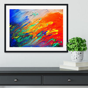 Colorful abstract acrylic painting Framed Print - Canvas Art Rocks - 1