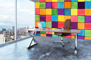 Colorful blocks Wall Mural Wallpaper - Canvas Art Rocks - 3