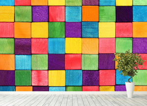 Colorful blocks Wall Mural Wallpaper - Canvas Art Rocks - 4
