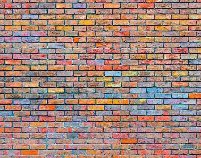 Colorful brick wall texture Wall Mural Wallpaper