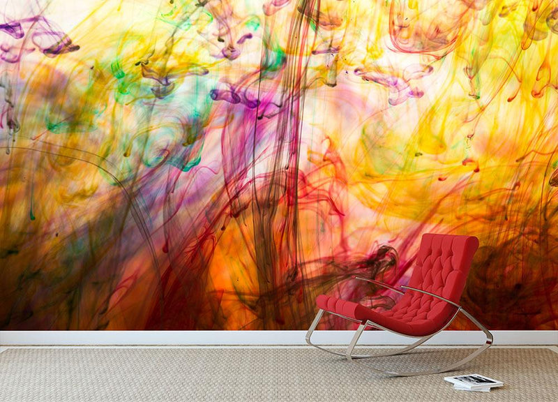 Colorful motion blur background Wall Mural Wallpaper - Canvas Art Rocks - 1