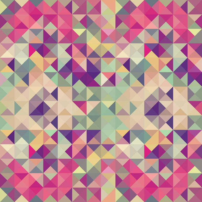 Colorful retro hipsters triangle Wall Mural Wallpaper