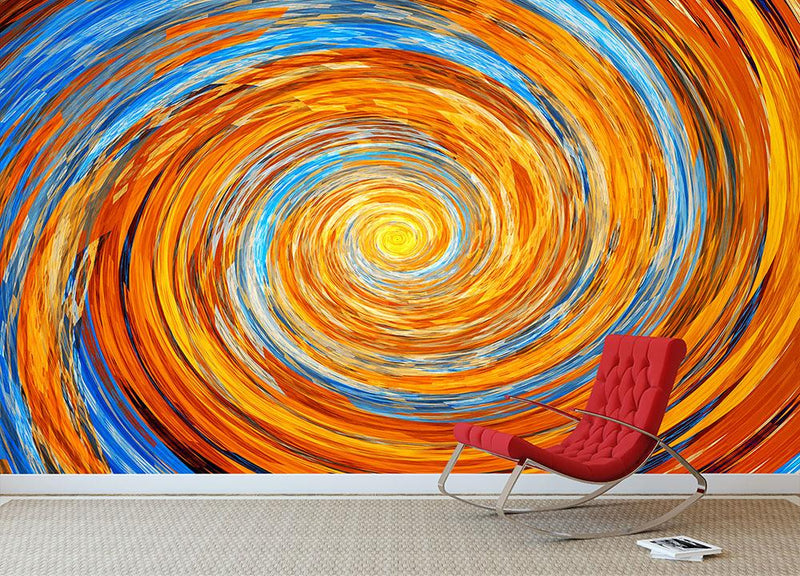 Colorful spiral fractal Wall Mural Wallpaper - Canvas Art Rocks - 1