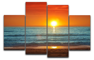Colorful sunset over the sea 4 Split Panel Canvas  - Canvas Art Rocks - 1