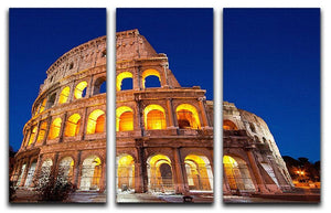 Colosseum Dome at dusk 3 Split Panel Canvas Print - Canvas Art Rocks - 1