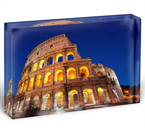 Colosseum Dome at dusk Acrylic Block - Canvas Art Rocks - 1