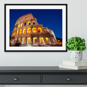 Colosseum Dome at dusk Framed Print - Canvas Art Rocks - 1