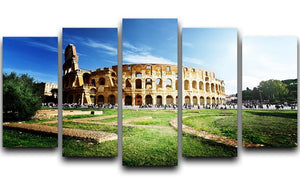 Colosseum Sunny Day in Rome 5 Split Panel Canvas  - Canvas Art Rocks - 1