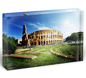 Colosseum Sunny Day in Rome Acrylic Block - Canvas Art Rocks - 1