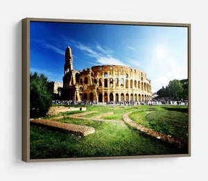 Colosseum Sunny Day in Rome HD Metal Print