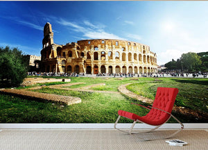 Colosseum Sunny Day in Rome Wall Mural Wallpaper - Canvas Art Rocks - 2