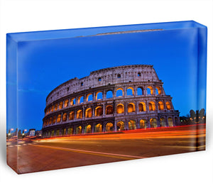 Colosseum at dusk Acrylic Block - Canvas Art Rocks - 1