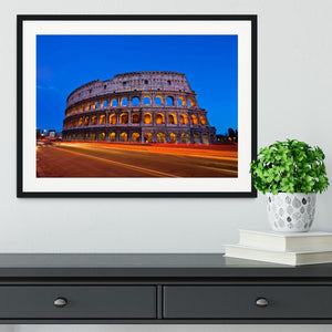 Colosseum at dusk Framed Print - Canvas Art Rocks - 1