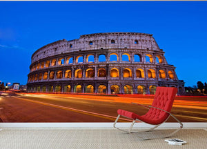 Colosseum at dusk Wall Mural Wallpaper - Canvas Art Rocks - 2