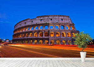Colosseum at dusk Wall Mural Wallpaper - Canvas Art Rocks - 4