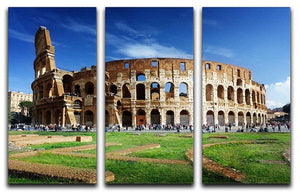 Colosseum in Rome Italy 3 Split Panel Canvas Print - Canvas Art Rocks - 1