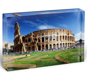 Colosseum in Rome Italy Acrylic Block - Canvas Art Rocks - 1