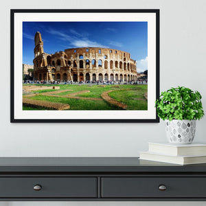 Colosseum in Rome Italy Framed Print - Canvas Art Rocks - 1