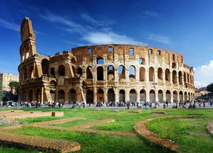 Colosseum in Rome Italy Wall Mural Wallpaper - Canvas Art Rocks - 1