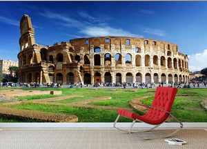 Colosseum in Rome Italy Wall Mural Wallpaper - Canvas Art Rocks - 2