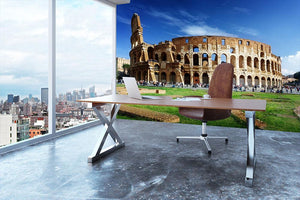 Colosseum in Rome Italy Wall Mural Wallpaper - Canvas Art Rocks - 3